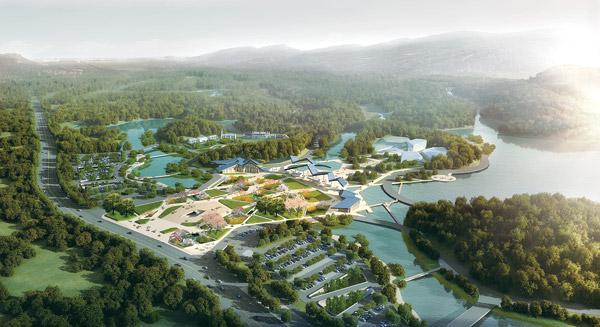本次项目涉及青秀山风景名胜区的重要出入口,是风景区景观风貌展现的