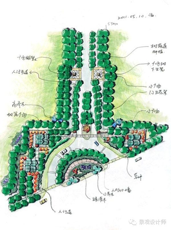 手绘快题平面图(二)