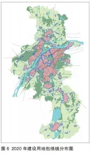 """轴向组团""""的城镇空间布局结构"""