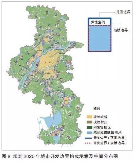 在城市规划确定的空间结构基础