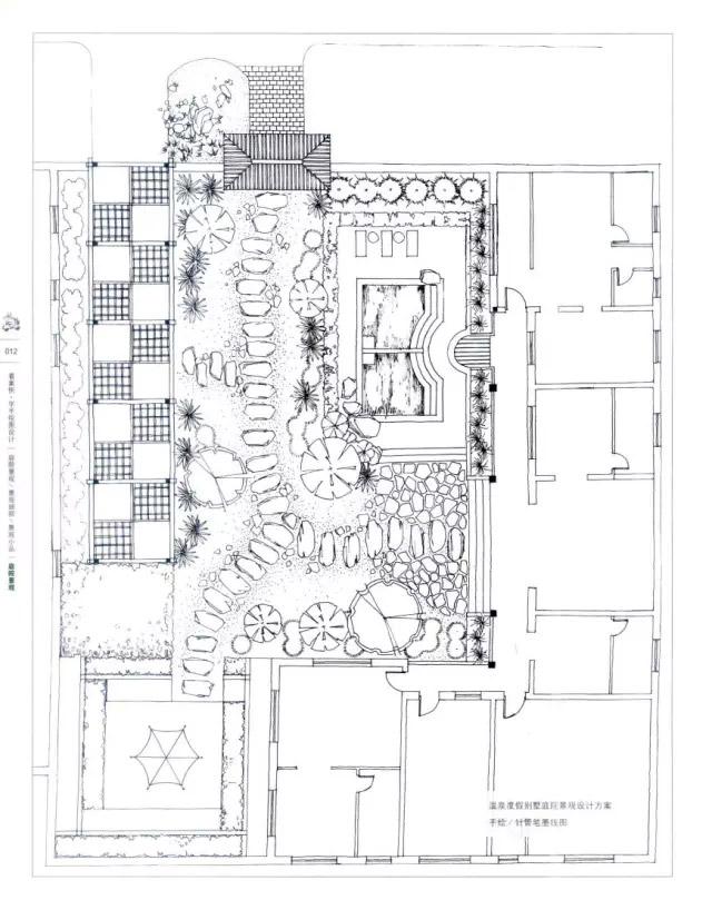 花坛设计手绘平面图展示