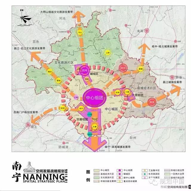 市域空间结构规划图