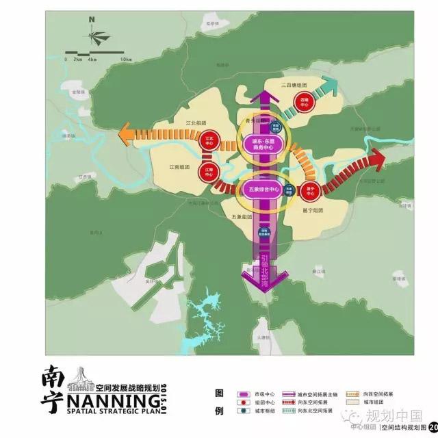 南宁城市组团结构图