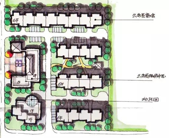"""【手绘】规划快题中的""""建筑尺度""""把控技巧"""
