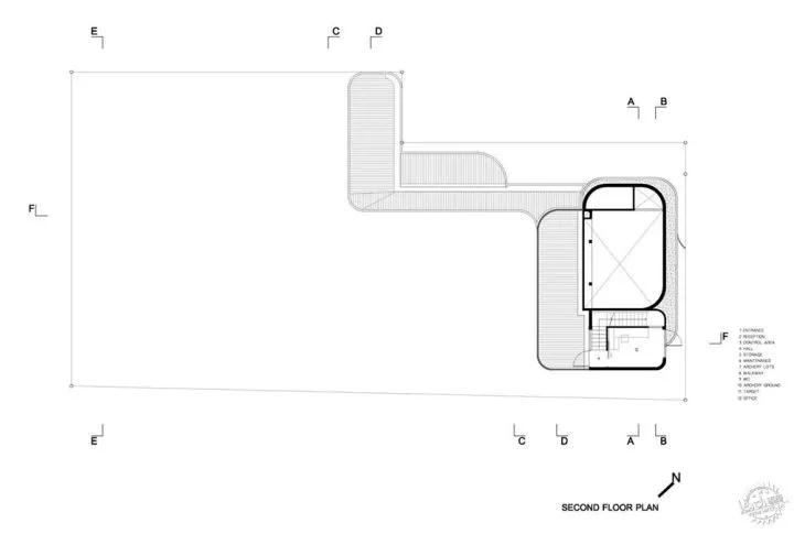 弧形楼层平面设计图