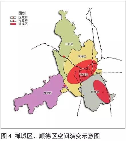 其中,佛山原县级顺德市的行政区域为原县市的行政区域,边界未发生变动